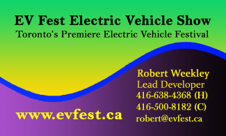 Business Card for contacting Robert Weekley - Lead Developer - EV Fest Electric Vehicle Show