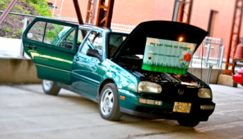 Dick Woudenberg's 1997 Waste Vegetable Oil Powered 'Biodiesel' Golf as seen at EV Fest 2011!
